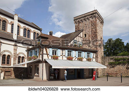 """Pictures of """"Town fortification, city tower, Place Andre Neher."""