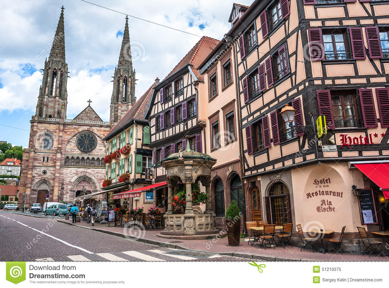 Obernai Town Center, Alsace, France Editorial Image.