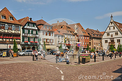 France, Picturesque Old City Of Obernai Editorial Image.