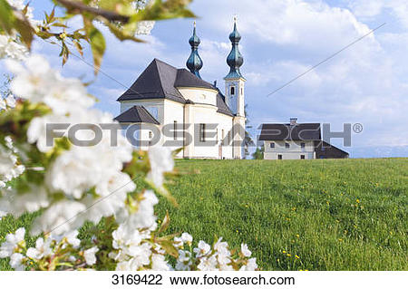 Stock Photo of Church of pilgrimage in Oberndorf bei Salzburg.