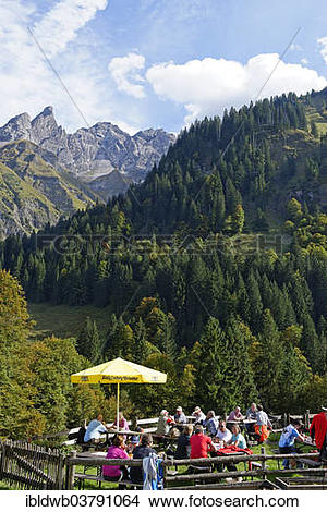 "Stock Photo of ""Buchenrain Alpe alp in Rappenalptal valley."