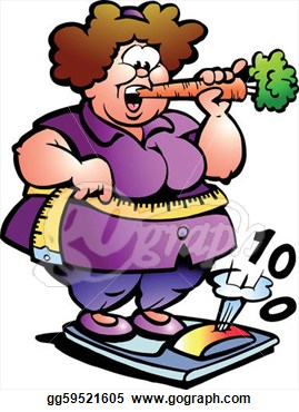 Overweight and Obese Clip Art.