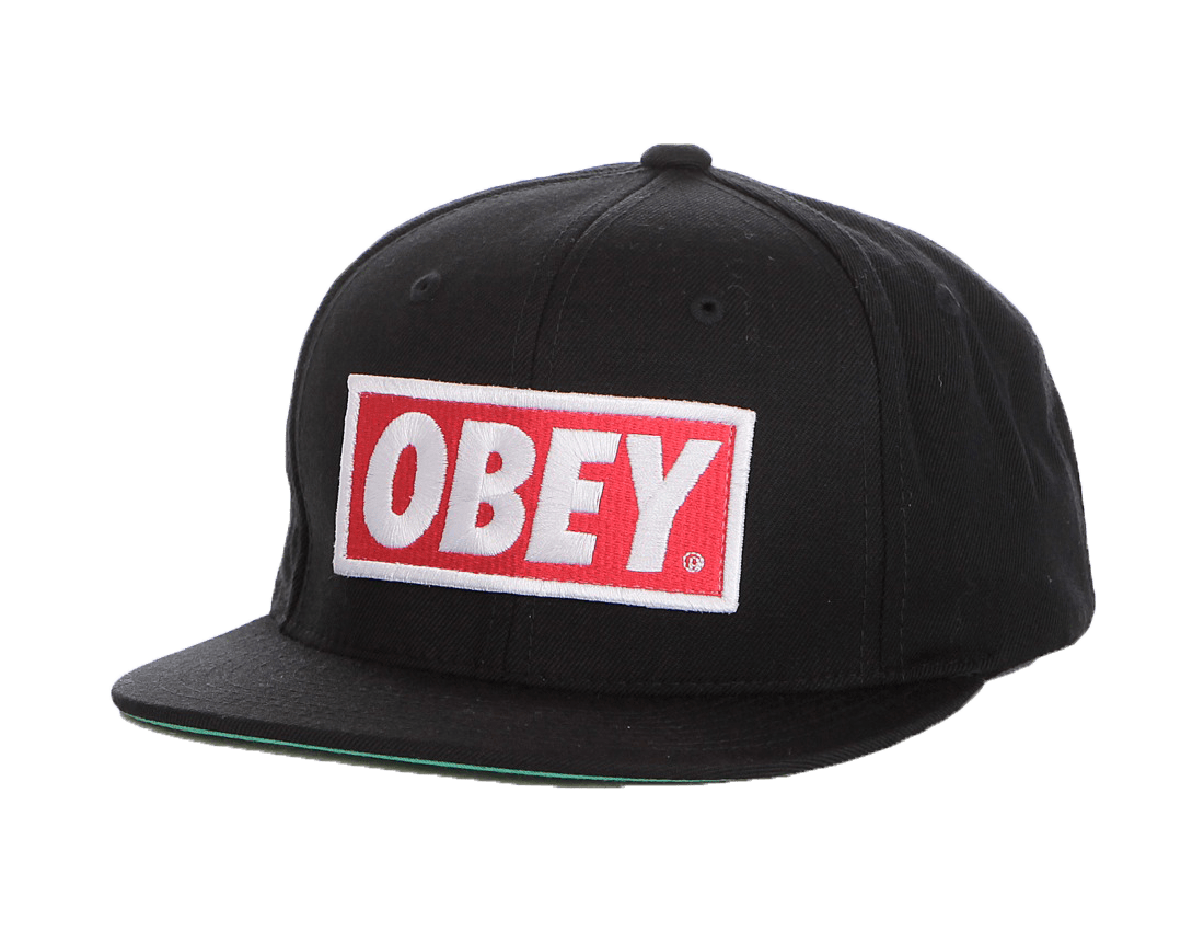 Thug Life Obey Hat transparent PNG.