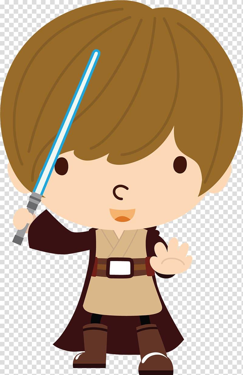 Star Wars Obi Wan Kenobi illustration, Luke Skywalker Anakin.