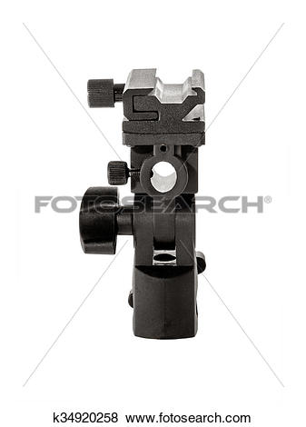 Pictures of Image isolated object flash and umbrella holder.