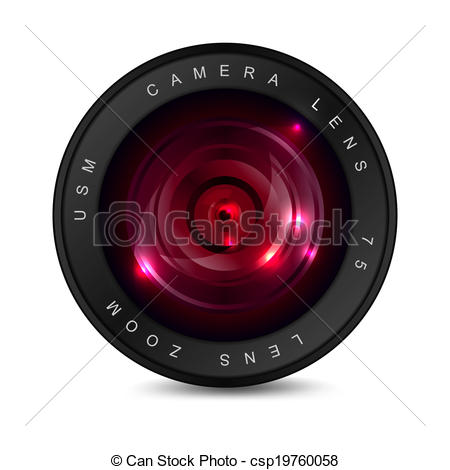 Clipart Vector of Red lens.