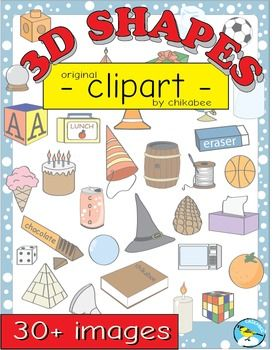 3D Shape Clip Art: shapes and real.