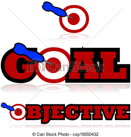 Goals and Objectives Clip Art.