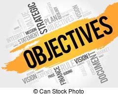 Objectives word cloud clip art.