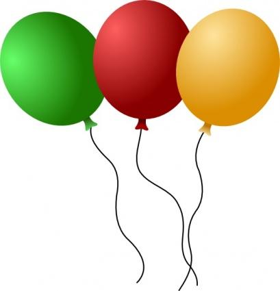 Balloons clip art Free Vector.
