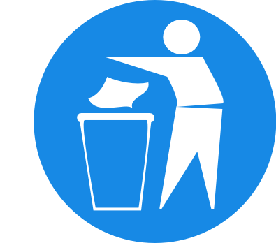 Trash sign.