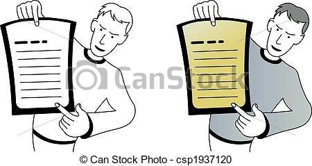 Vector Clipart of Look this.