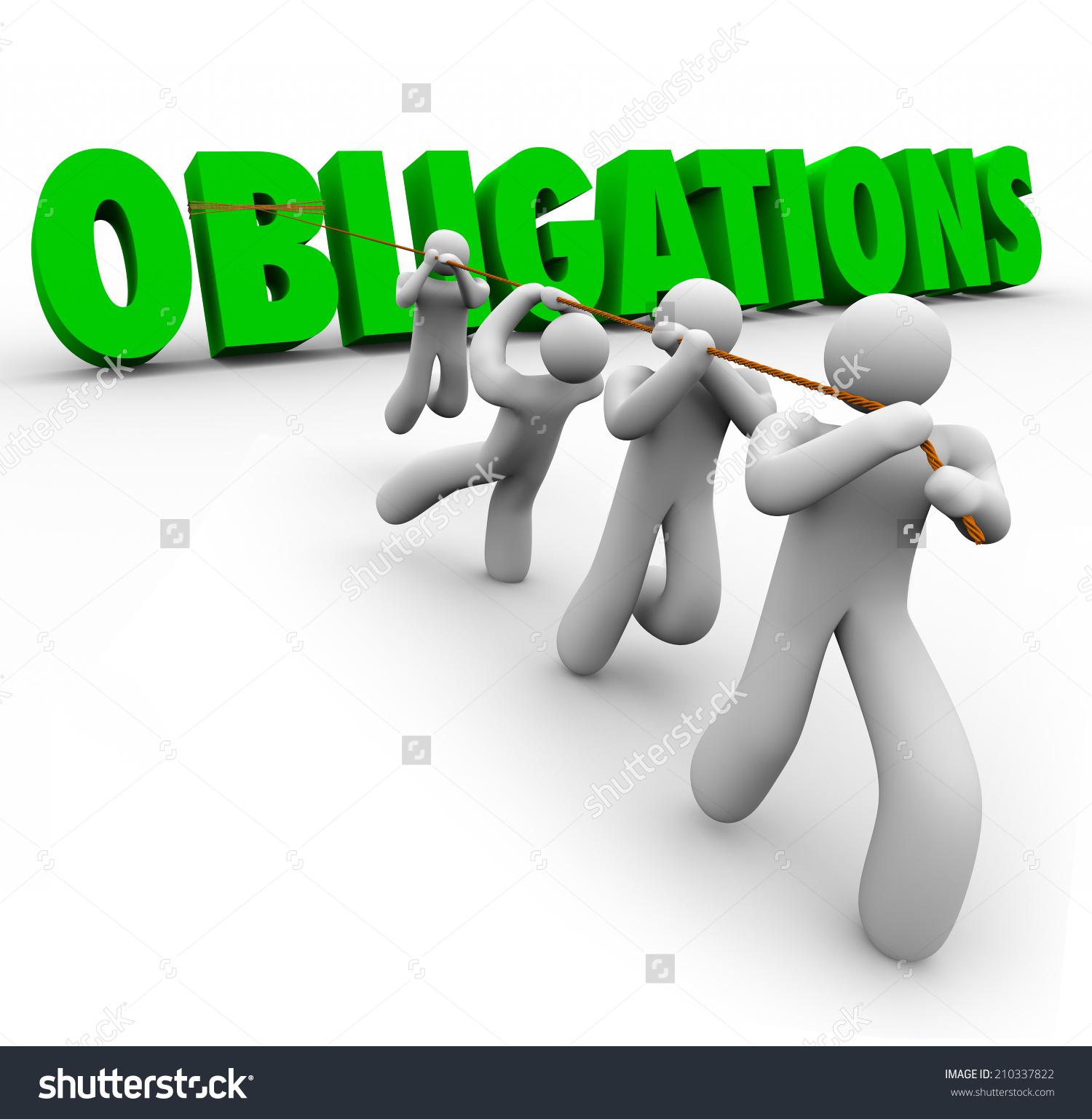 Obligations clipart.