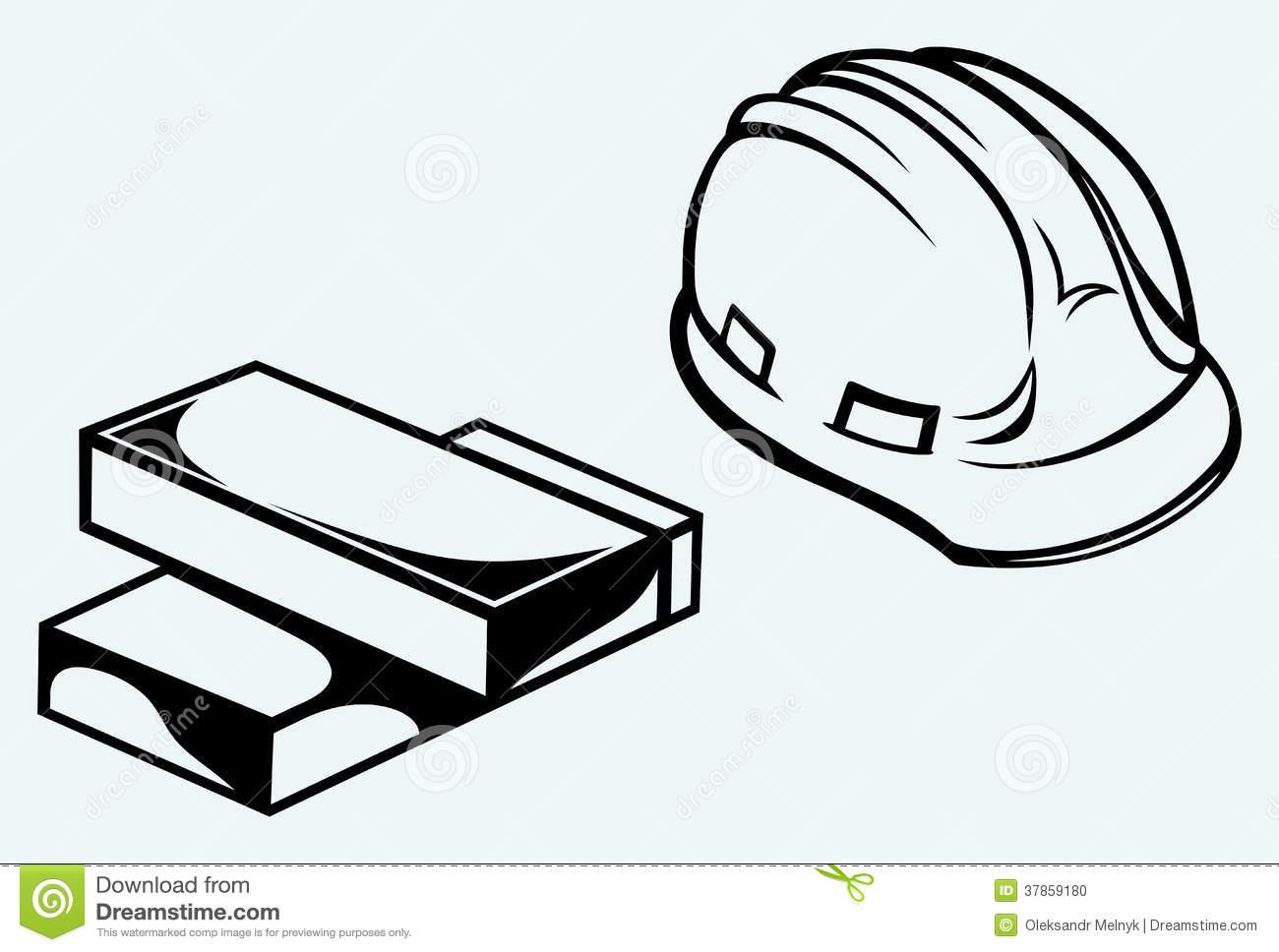 Construction hat clipart silhouette.
