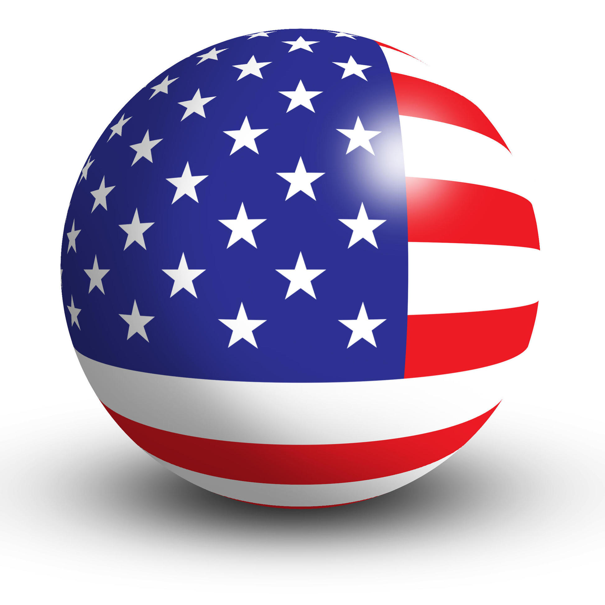 American Flag Orb Button Icon The Observation Deck Clipart.