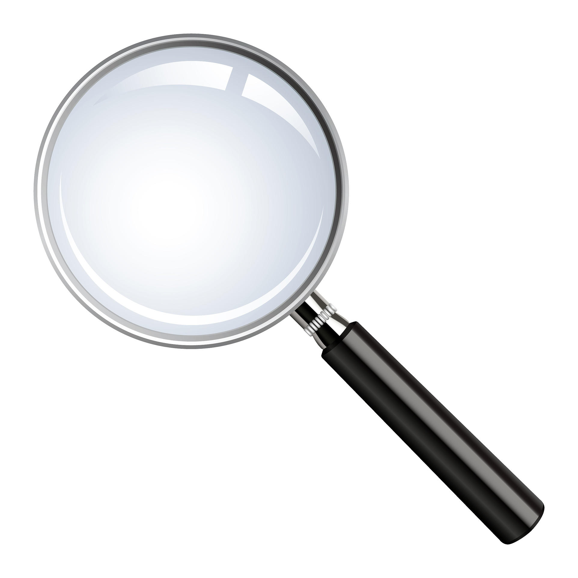 Realistic vector magnifying glass.