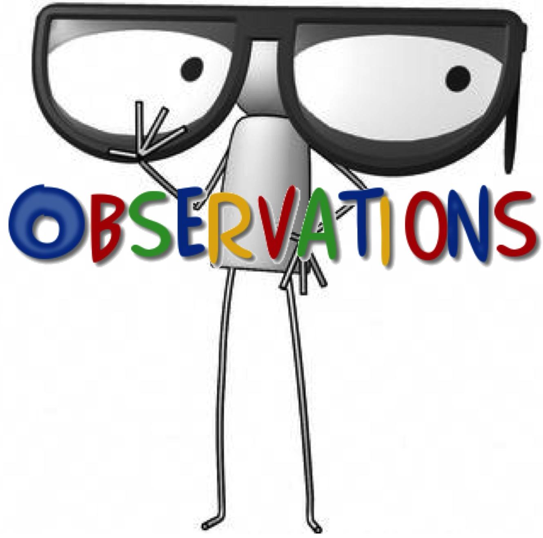 Teacher observation clipart.