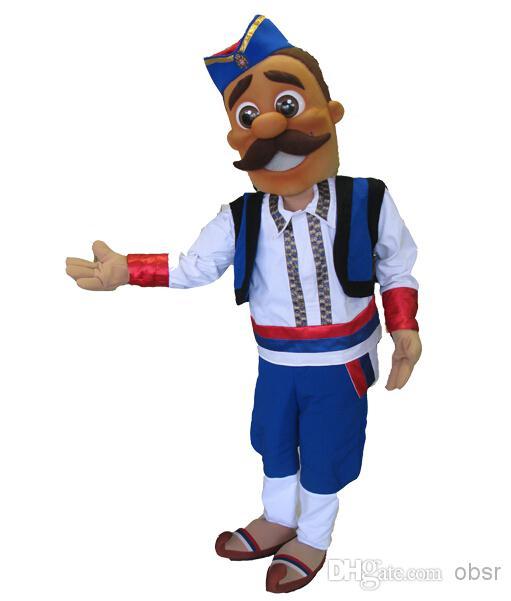 Serbian Guy Halloween Dress Mascot Costume Party Costume Character.