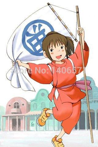 Anime Spirited Away Chihiro Ogino Cosplay Costume kimono costume.