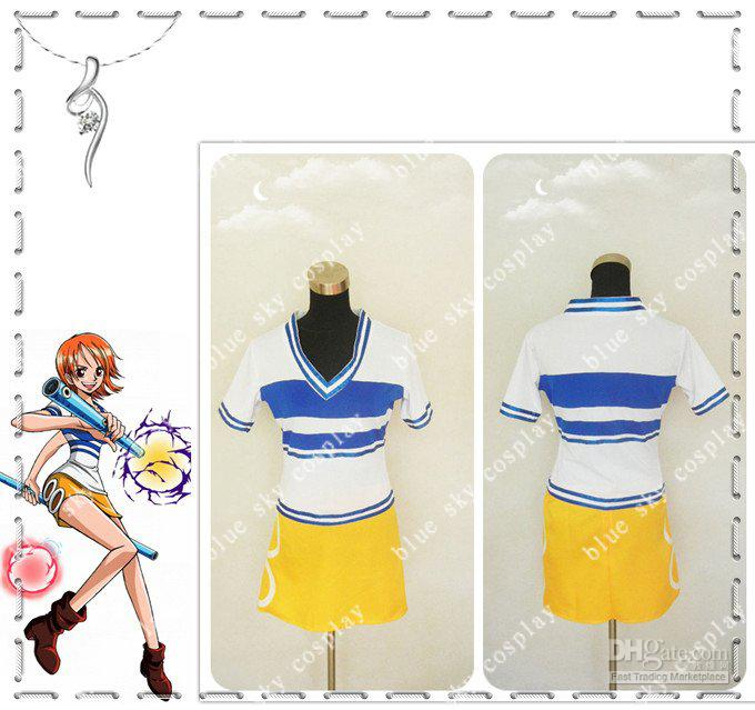 One Piece Nami Anime Cosplay Costume Custom Any Size Cheap.