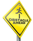 Obstacle course clip art.