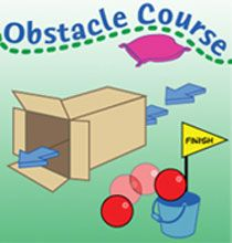 Free clipart obstacle course.