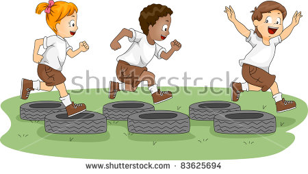 Obstacle Course Stock Images, Royalty.