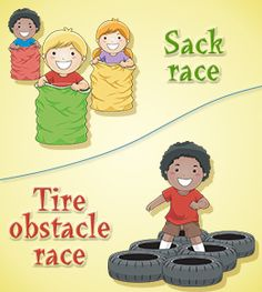 Obstacle Course For Kids Clipart.