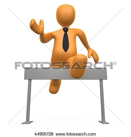 Stock Illustration of Pass The Obstacles k4905728.