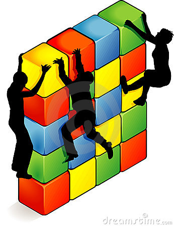 Overcoming Obstacles Clipart.