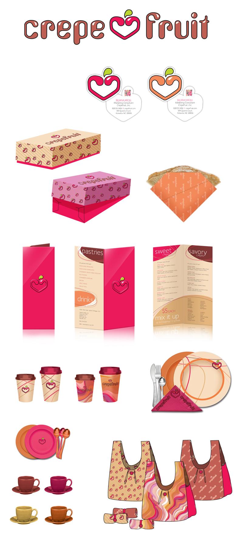 Portfolio of Biljana Kroll : Graphic Design : Crepefruit Branding.