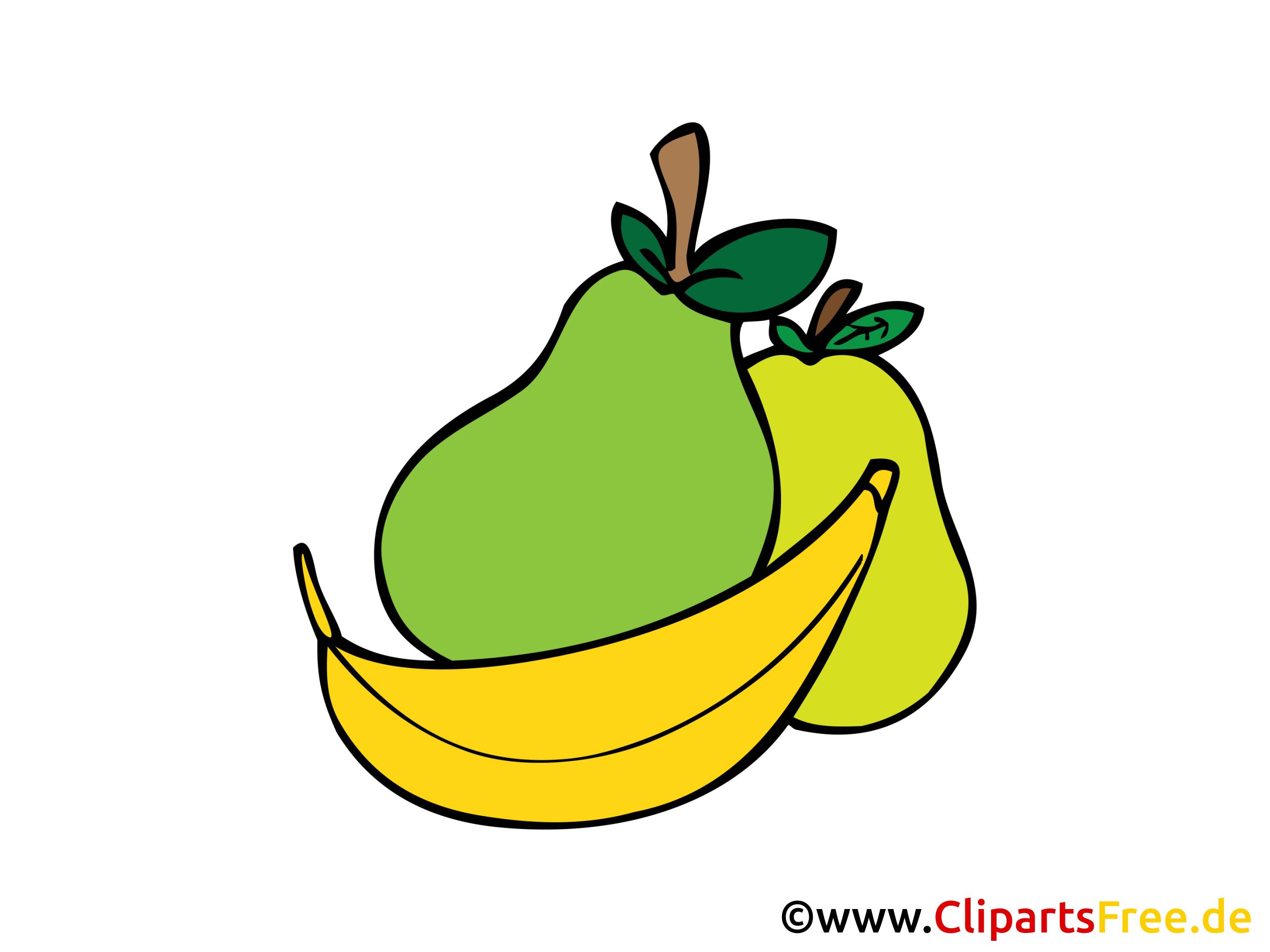 Obst Cliparts in Hochaufloesung.