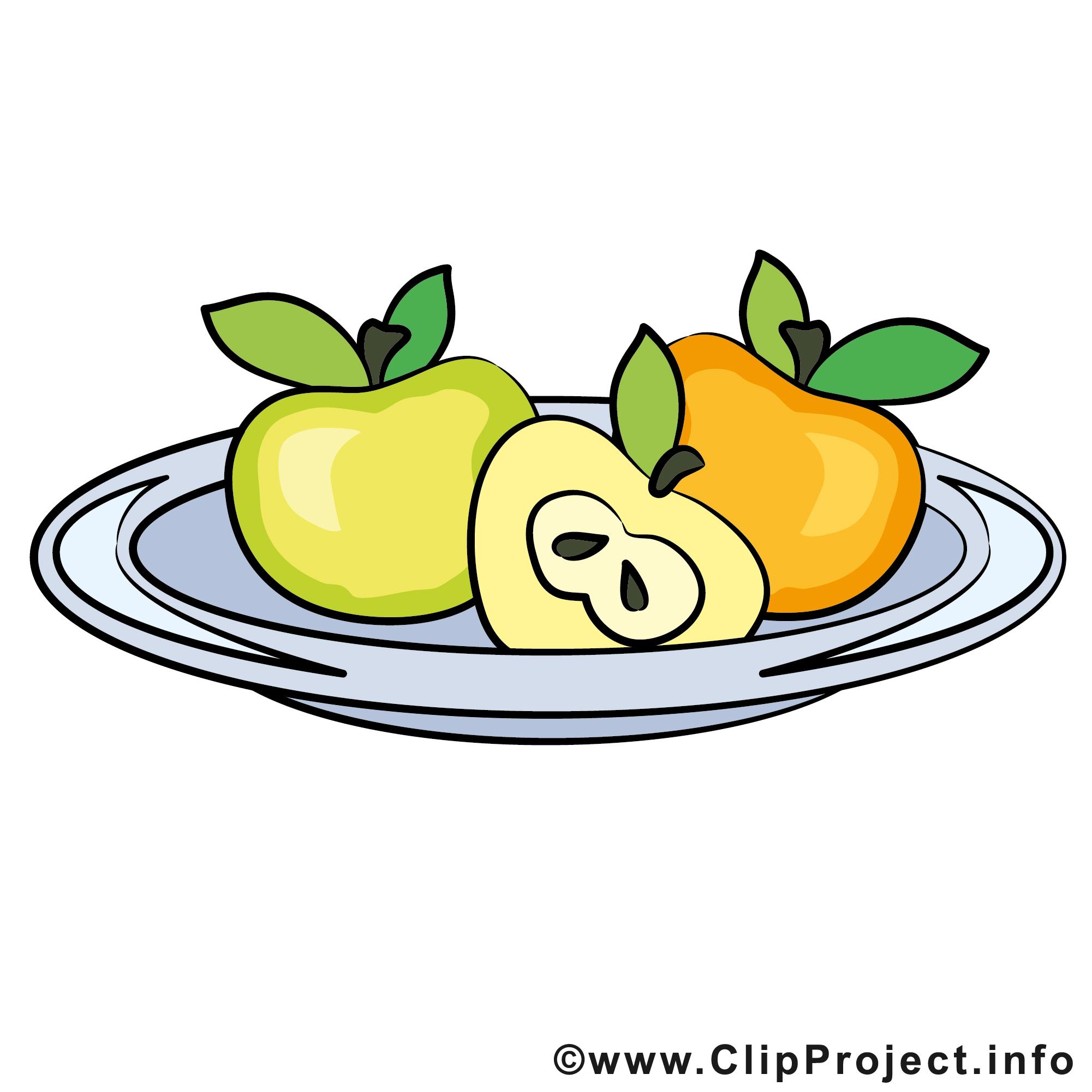 Obst auf dem Tablett.