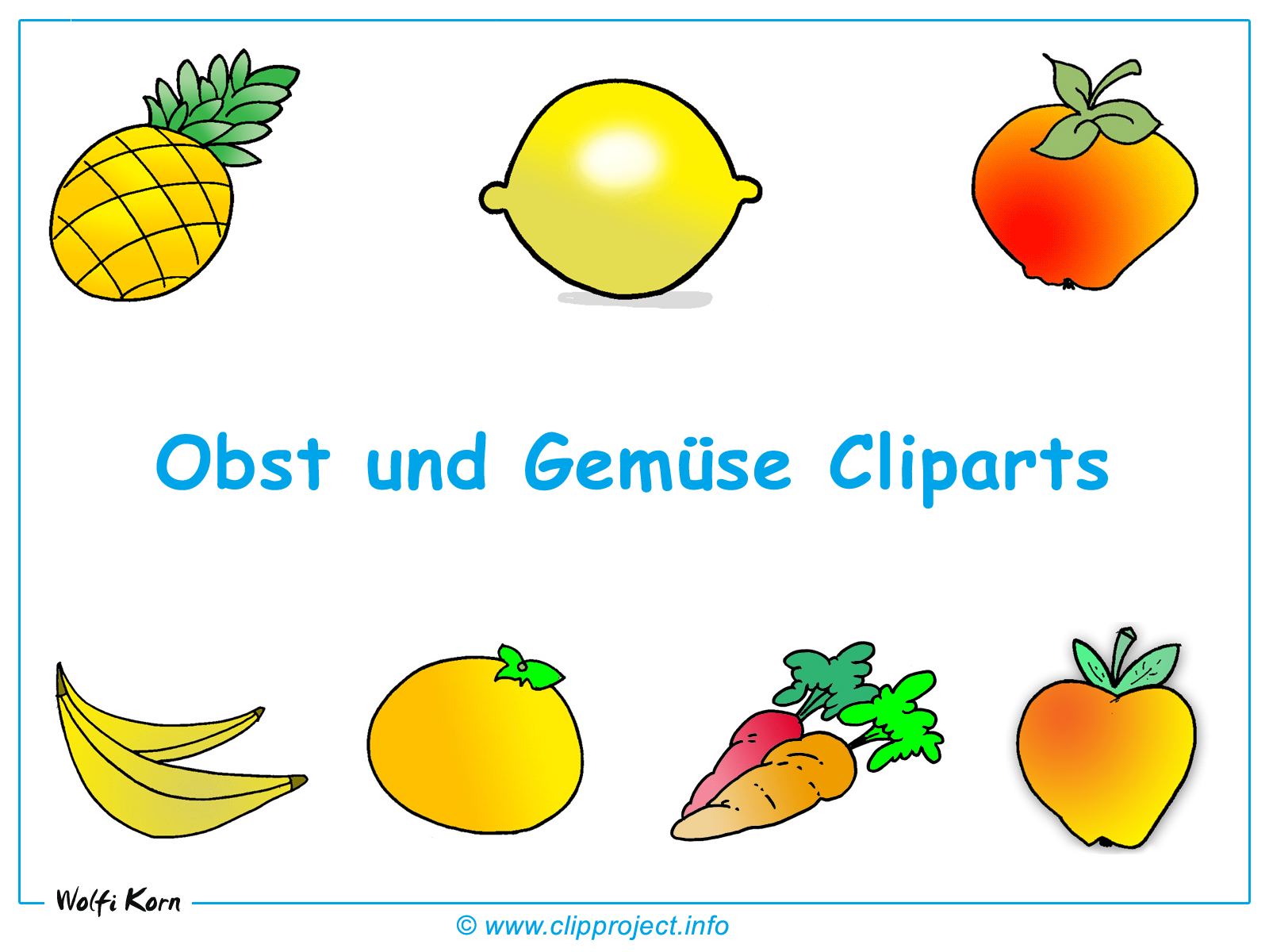 Obst und Gemüse Bilder.