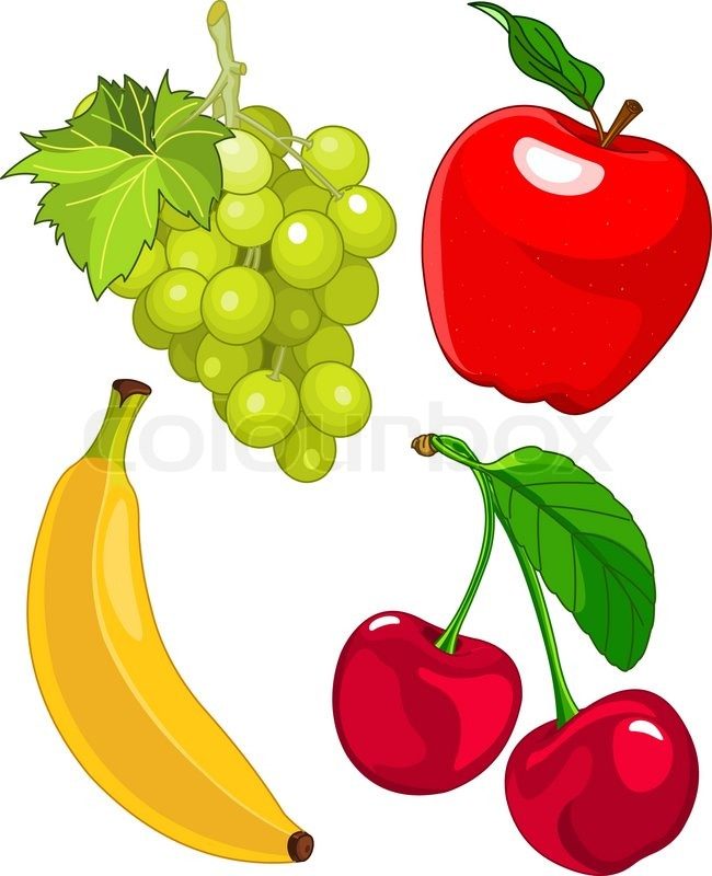 Clipart, obst, obst.