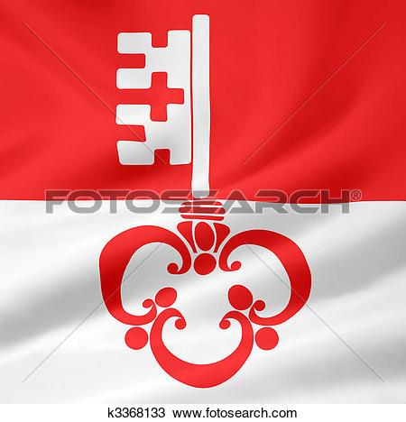 Drawing of Flag of Obwalden.