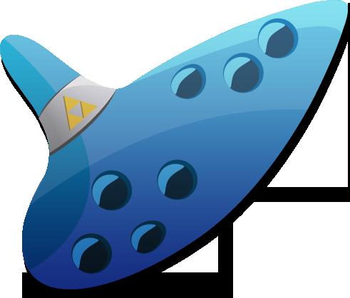 Ocarina clipart.
