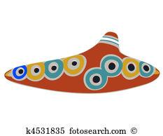 Ocarina Clip Art and Illustration. 5 ocarina clipart vector EPS.