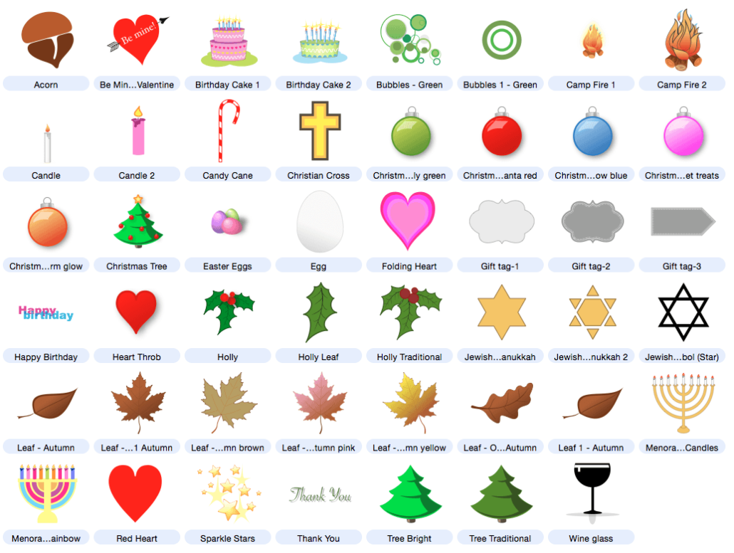 Holidays & Occasions Clip Art.