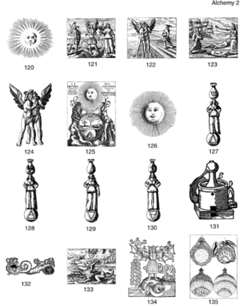 Alchemical Occult Clip Art Collection.