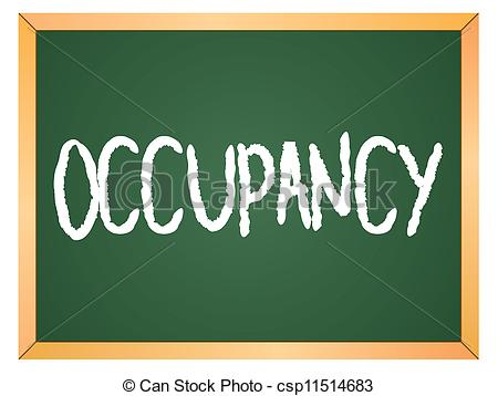 Vector of occupancy word on chalkboard csp11514683.
