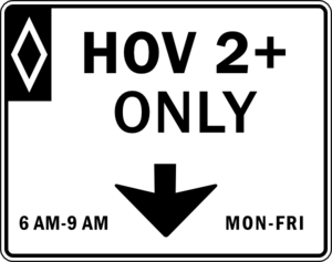 High Occupancy Vehicle Lane Clip Art at Clker.com.