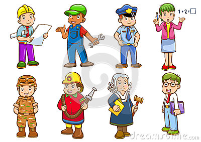Occupations clip art.