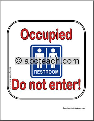 Occupied clipart.