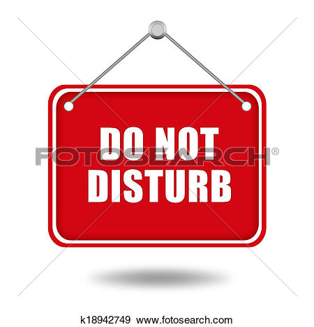 Stock Illustration of Please do not disturb, sign hanging on the.