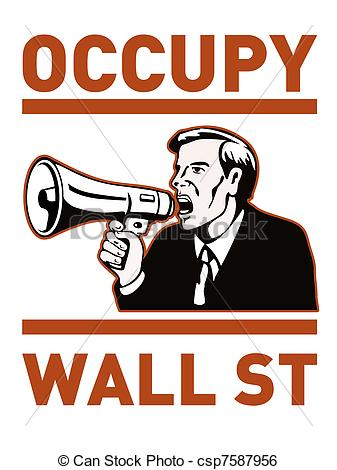 Stock Illustration of Occupy wall street.