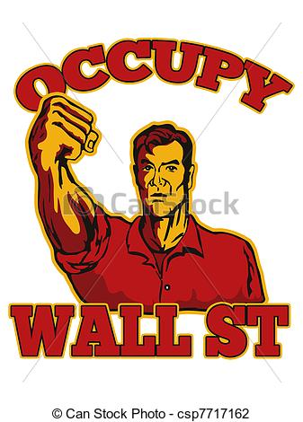 Clip Art of Occupy Wall Street American Worker.