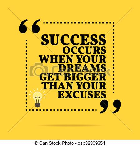 Clipart Vector of Inspirational motivational quote. Success occurs.