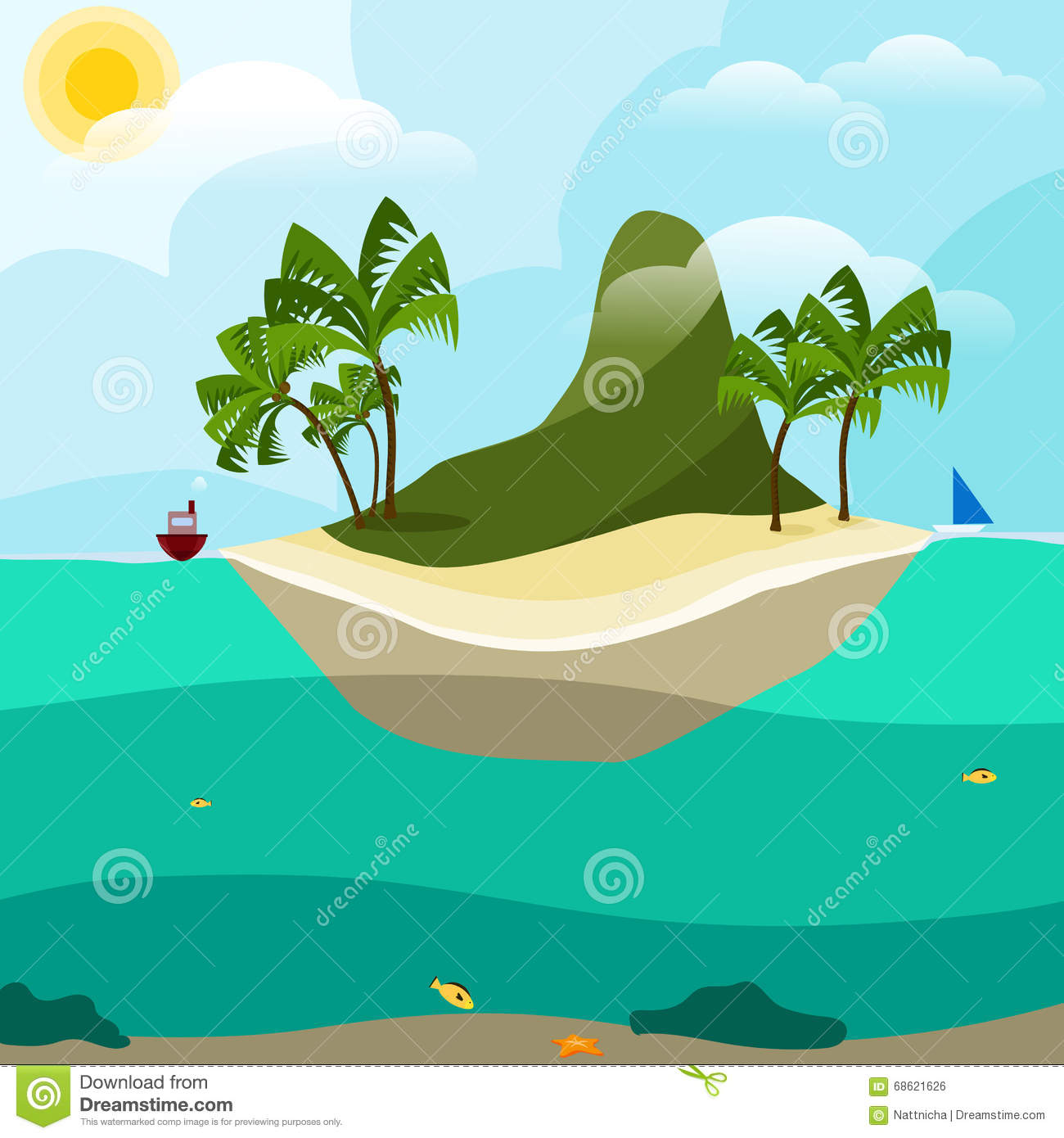Island Mountain Clip Art.