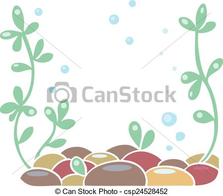 Clipart Vector of Aquarium or ocean floor.
